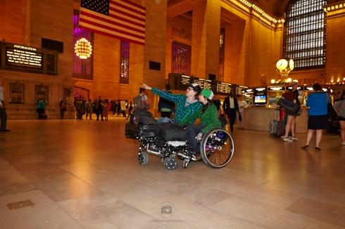 Grand Central Station mit Sack und Pack auf dem Smartwheel - Foto: Anna Spindelndreier