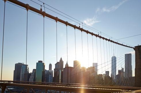 Die New Yorker Skyline von der Brooklyn Bridge aus gesehen - Foto: Anna Spindelndreier