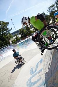 Markus Pösendorfer hat den Skatepark schnell erobert - Foto: Anna Spindelndreier