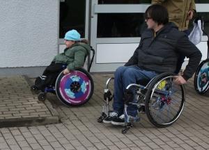 Rollstuhlfahren muss gelernt sein!