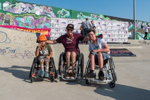 Amos und Max nach der Siegerehrung der 1. German WCMX Championships - Foto: DRS|Mandau